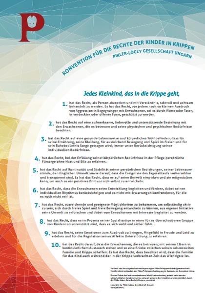 Pikler-Konvention für die Rechte der Kinder in Krippen
